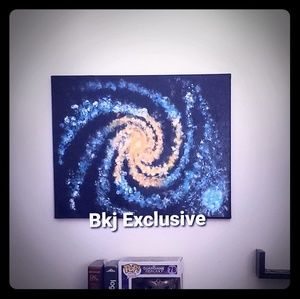 Galaxy Painting by Bkj Exclusive